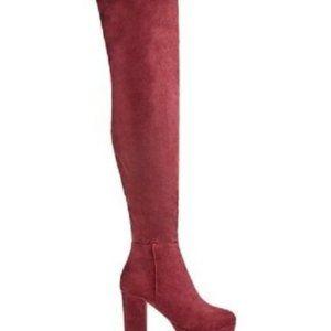 Just Fab Laetitia Over Knee Boot Wide Calf NIB
